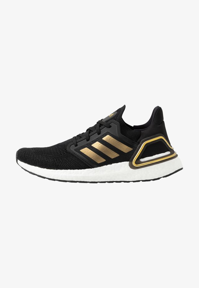 ULTRABOOST 20 PRIMEKNIT RUNNING SHOES - Nøytrale løpesko - core black/gold metallic/solar red