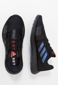 adidas Performance - PUREBOOST SENSEBOOST RUNNING SHOES - Zapatillas de running neutras - core black/blue vision metalic - 1