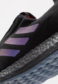 adidas Performance - PUREBOOST SENSEBOOST RUNNING SHOES - Zapatillas de running neutras - core black/blue vision metalic - 5