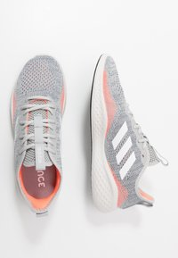 adidas Performance - FLUIDFLOW - Zapatillas de running neutras - grey two/footwear white/signal coral - 1