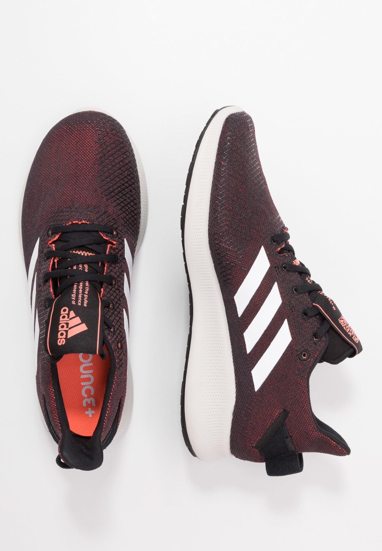 adidas Performance SENSEBOUNCE STREET - Chaussures de running neutres - core black/footwear white/signal coral