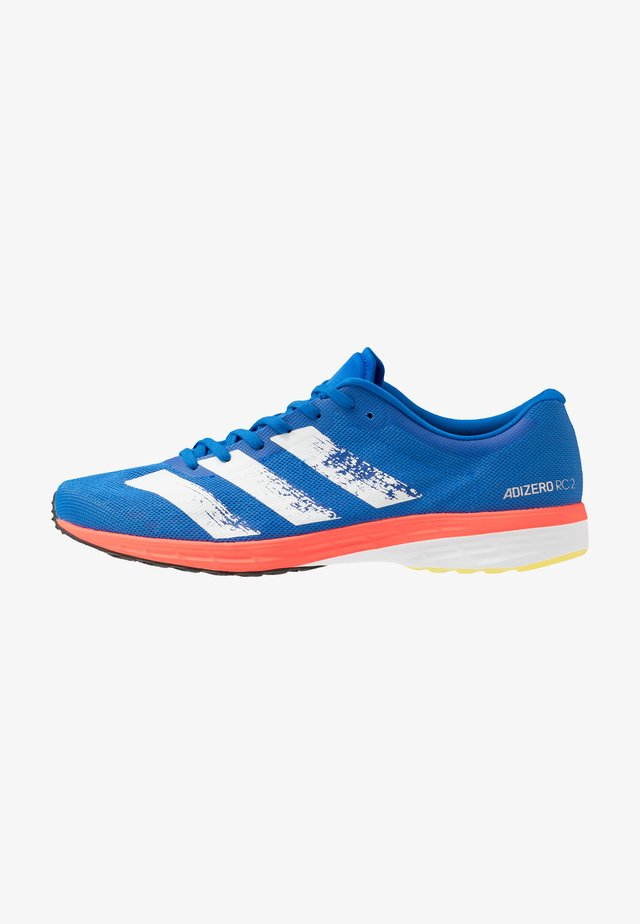 ADIZERO RC 2 - Competition running shoes - glow blue/core white/solar red
