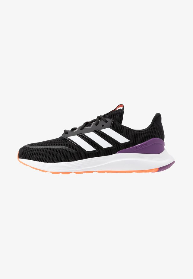 ENERGYFALCON - Neutral running shoes - core black/footwear white/signal coral