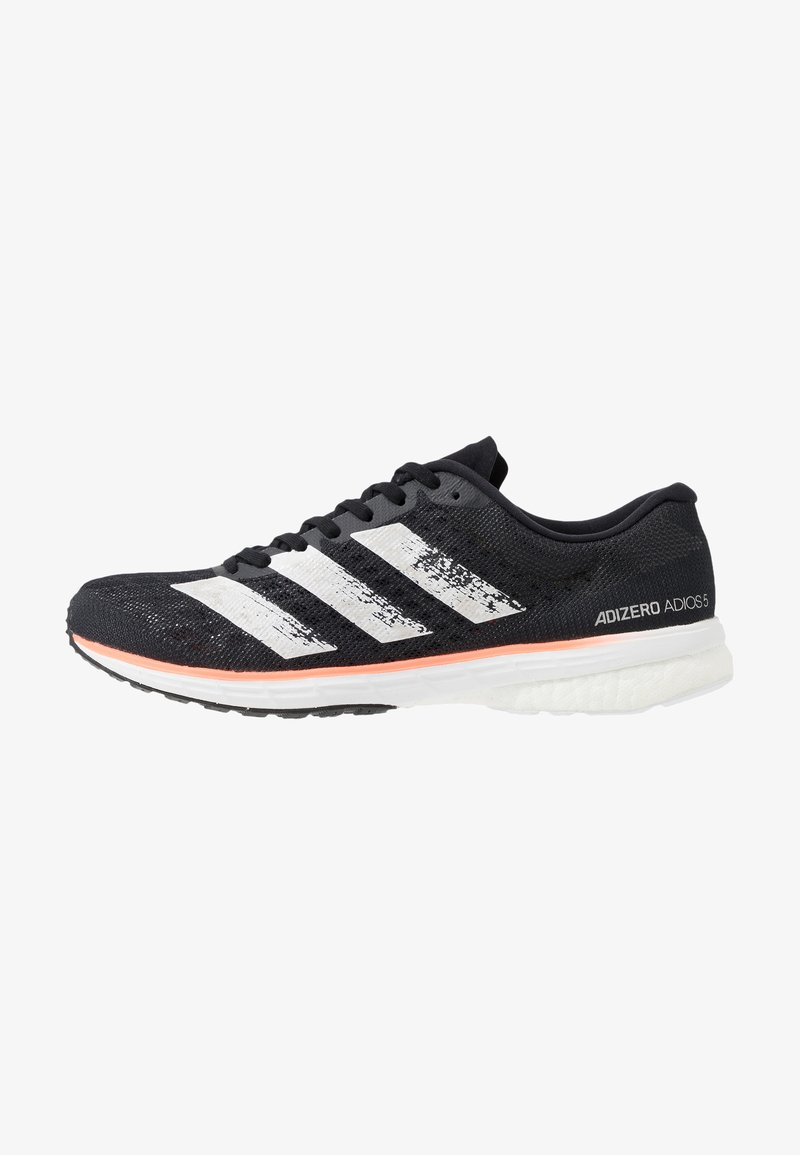adidas Performance - ADIZERO ADIOS 5 - Laufschuh Neutral - core black/footwear white/signal coral
