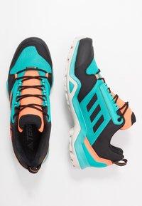 adidas Performance - TERREX AX3 GTX - Obuwie hikingowe - hi-res aqua/core black/grey one - 1