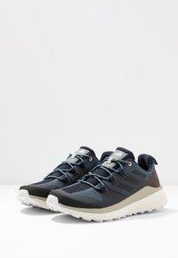 adidas Performance - TERREX FOLGIAN HIKER - Hiking shoes - legend blue/core black/raw dessert - 2
