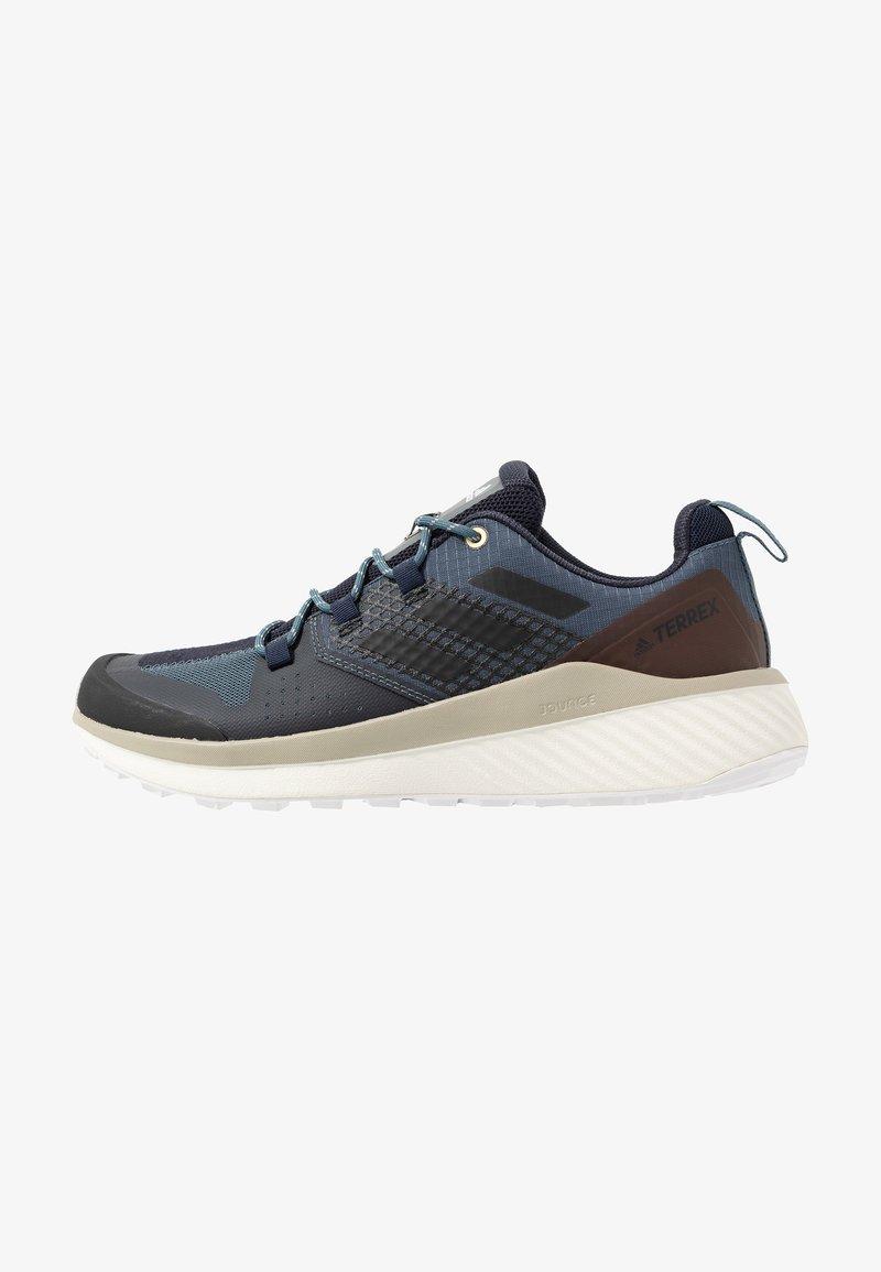 adidas Performance - TERREX FOLGIAN HIKER - Hiking shoes - legend blue/core black/raw dessert