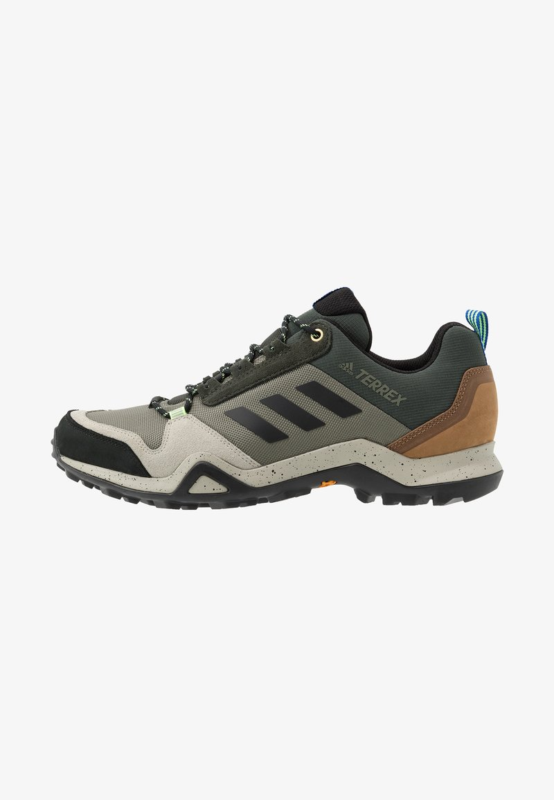 adidas Performance - TERREX AX3 - Obuwie hikingowe - legend green/core black/glow blue