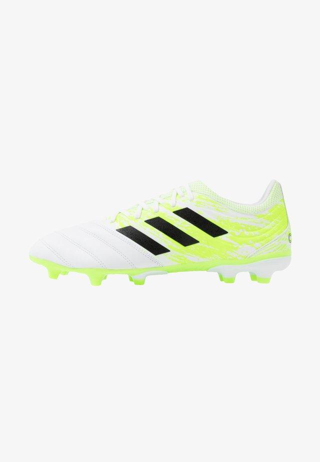 COPA 20.3 FG - Voetbalschoenen met kunststof noppen - footwear white/core black/signal green