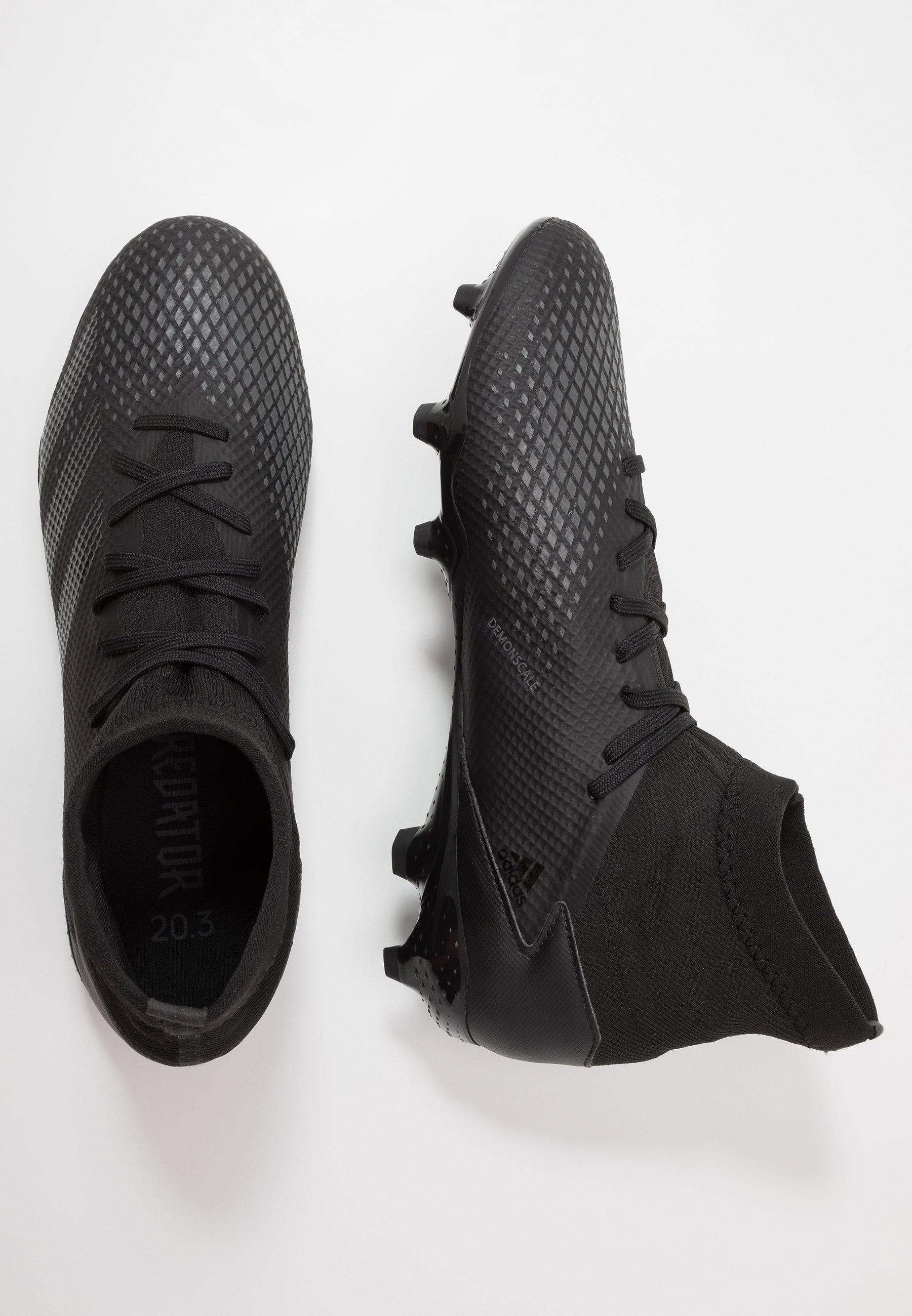 Adidas Performance Predator 20.3 Fg - Fotbollsskor Fasta Dobbar Core Black/ Solid Grey L0TIICh