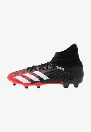 PREDATOR 20.3 FG - Voetbalschoenen met kunststof noppen - core black/footwear white/active red