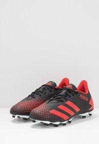 adidas Performance - PREDATOR 20.4 FXG - Korki Lanki - core black/active red/footwear white - 2