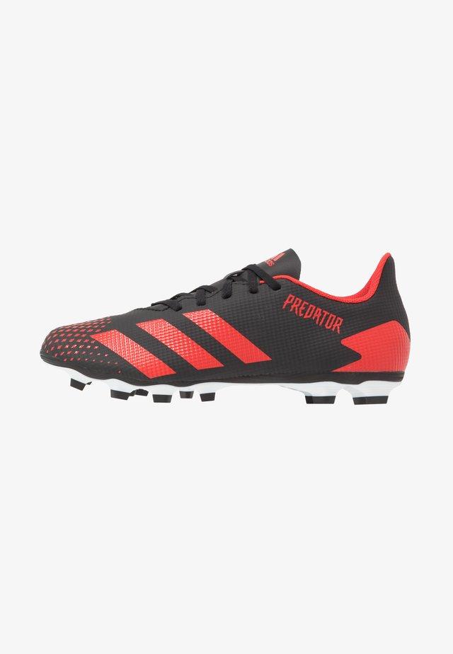 PREDATOR 20.4 FXG - Botas de fútbol con tacos - core black/active red/footwear white