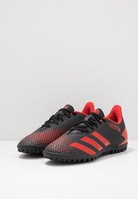 adidas Performance - PREDATOR 20.4 TF - Kopačky na umělý trávník - core black/active red - 2
