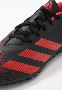 adidas Performance - PREDATOR 20.4 TF - Kopačky na umělý trávník - core black/active red - 5