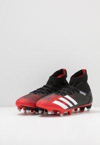 adidas Performance - PREDATOR 20.3 SG - Botas de fútbol - core black/footwear white/action red - 2
