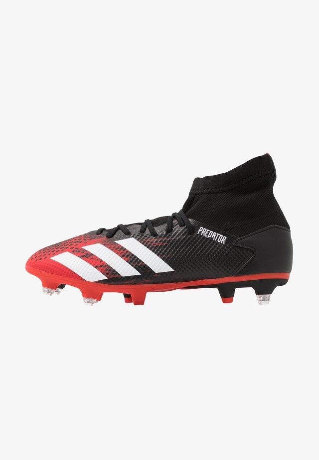 PREDATOR 20.3 SG - Botas de fútbol - core black/footwear white/action red