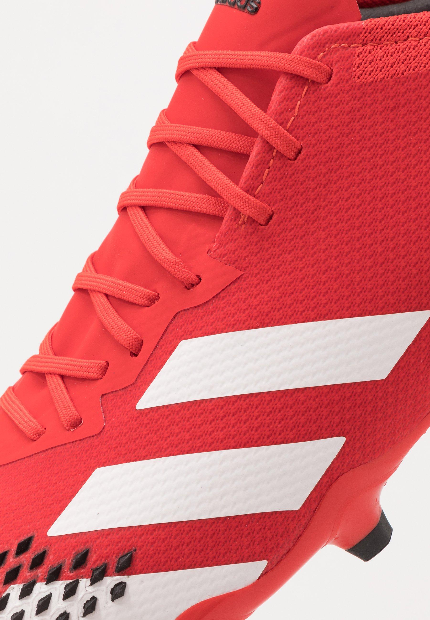 adidas Performance PREDATOR 20.2 FG - Scarpe da calcetto con tacchetti - active red/footwear white/core black