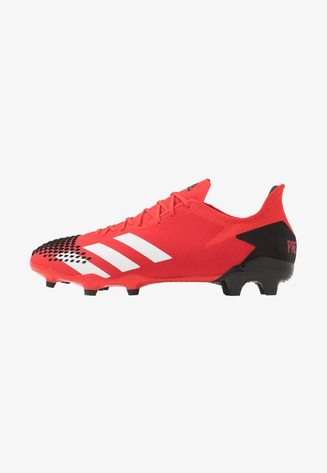 PREDATOR 20.2 FG - Botas de fútbol con tacos - active red/footwear white/core black