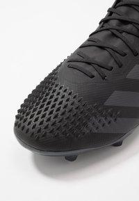 adidas Performance - PREDATOR 20.2 FG - Voetbalschoenen met kunststof noppen - core black/dough solid grey - 5