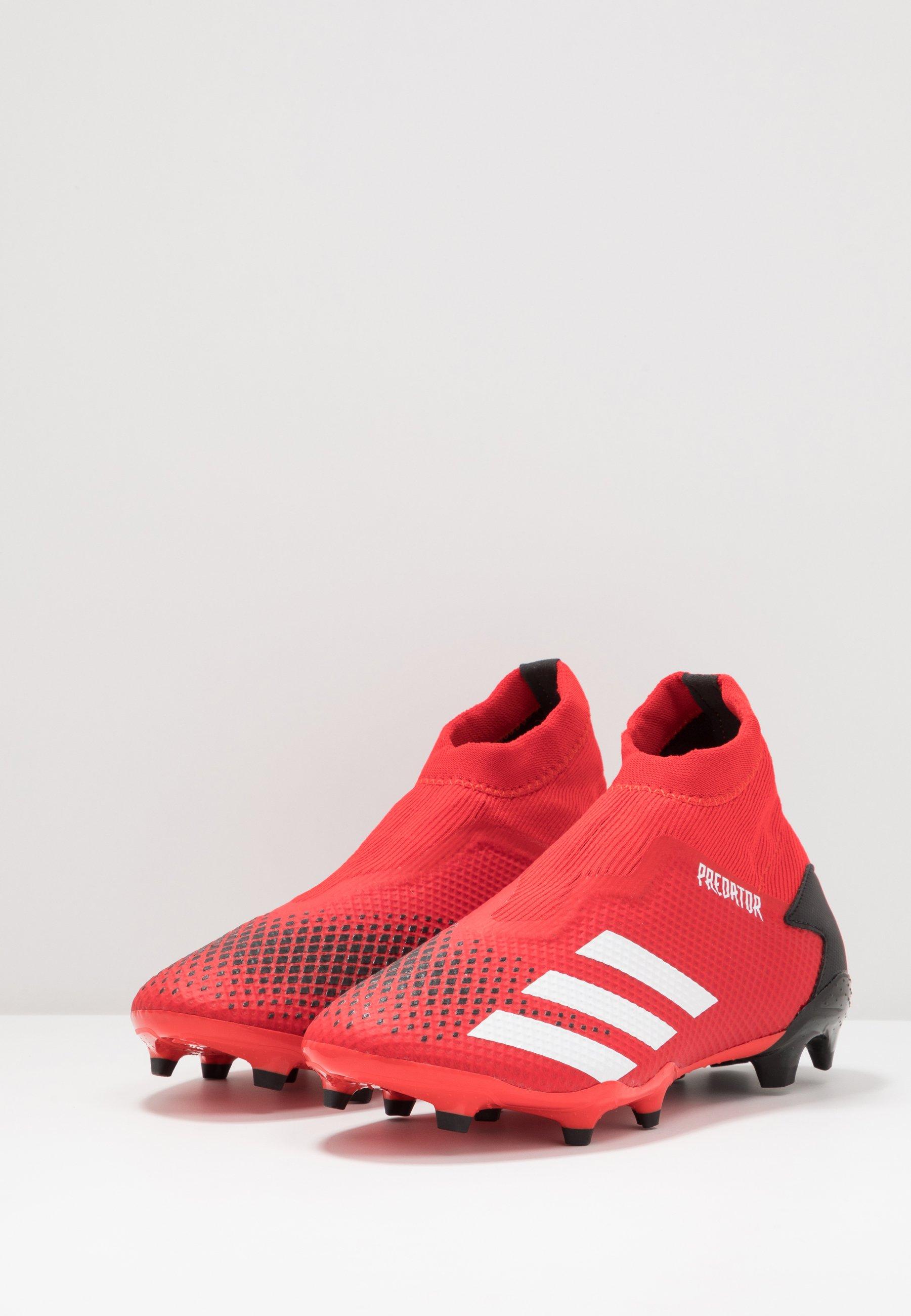 adidas Performance PREDATOR 20.3 LL FG - Korki Lanki - active red/footwear white/core black