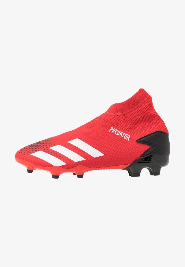 PREDATOR 20.3 LL FG - Scarpe da calcetto con tacchetti - active red/footwear white/core black