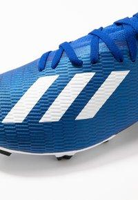 adidas Performance - X 19.3 FG - Botas de fútbol con tacos - royal blue/footwear white/core black - 5