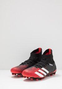 adidas Performance - PREDATOR 20.3 MG - Voetbalschoenen met kunststof noppen - core black/footwear white/active red - 2