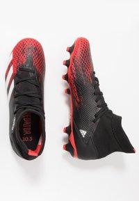 adidas Performance - PREDATOR 20.3 MG - Voetbalschoenen met kunststof noppen - core black/footwear white/active red - 1