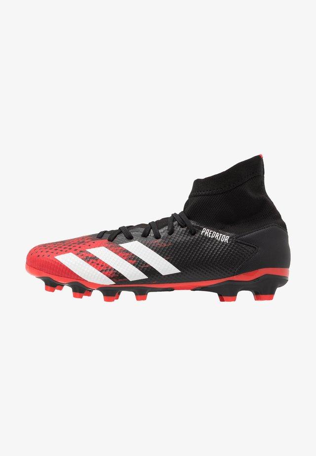 PREDATOR 20.3 MG - Botas de fútbol con tacos - core black/footwear white/active red