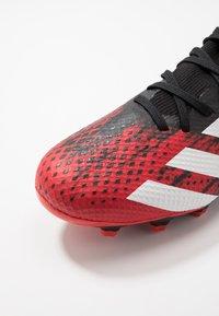 adidas Performance - PREDATOR 20.3 MG - Voetbalschoenen met kunststof noppen - core black/footwear white/active red - 5