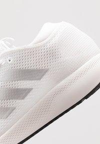 adidas Performance - EDGE FLEX - Neutral running shoes - footwear white/silver metallic/grey one - 5