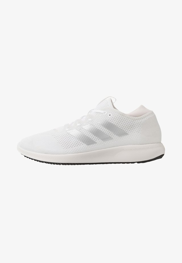 EDGE FLEX - Neutral running shoes - footwear white/silver metallic/grey one