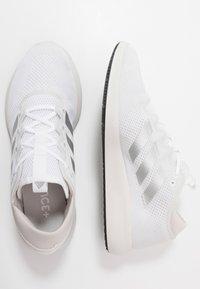 adidas Performance - EDGE FLEX - Neutral running shoes - footwear white/silver metallic/grey one - 1