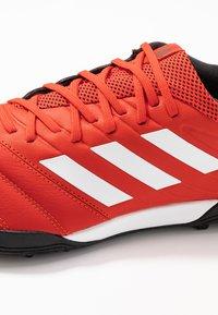 adidas Performance - COPA 20.3 TF - Korki Turfy - active red/footwear white/core black - 5