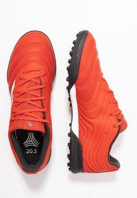 adidas Performance - COPA 20.3 TF - Korki Turfy - active red/footwear white/core black - 1