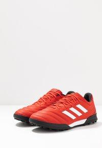 adidas Performance - COPA 20.3 TF - Korki Turfy - active red/footwear white/core black - 2