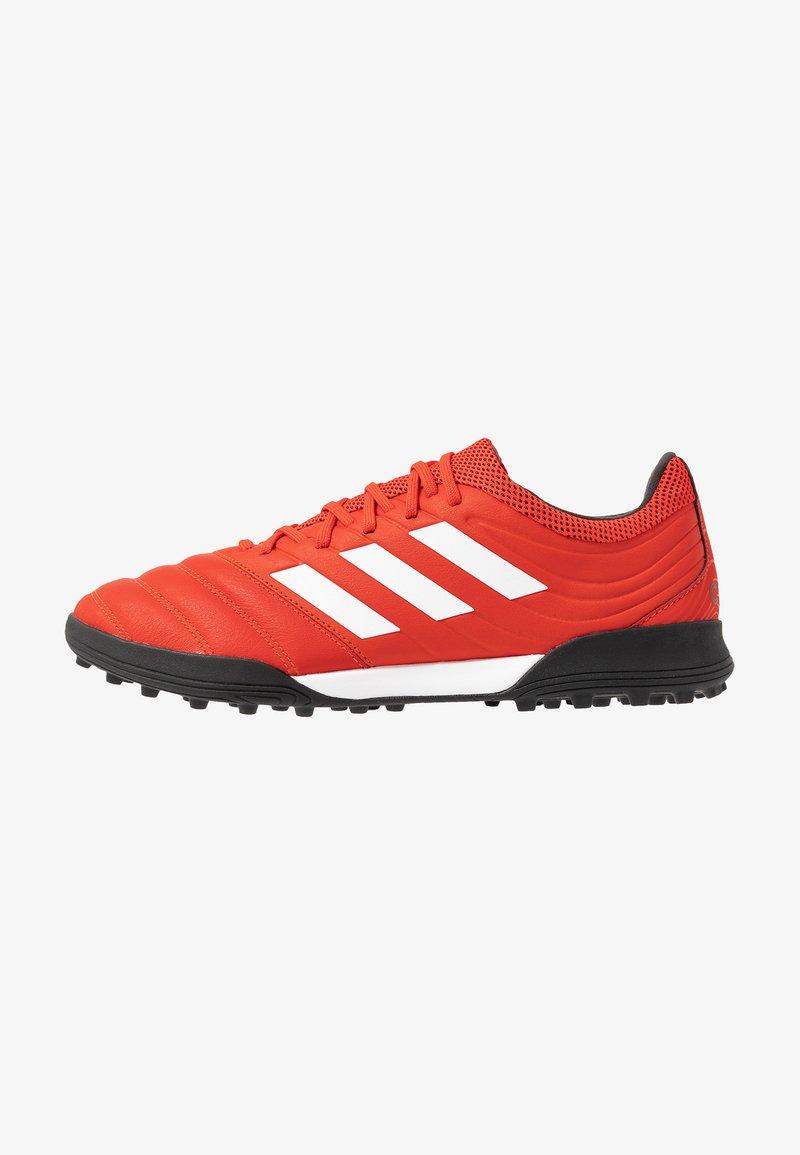 adidas Performance - COPA 20.3 TF - Korki Turfy - active red/footwear white/core black