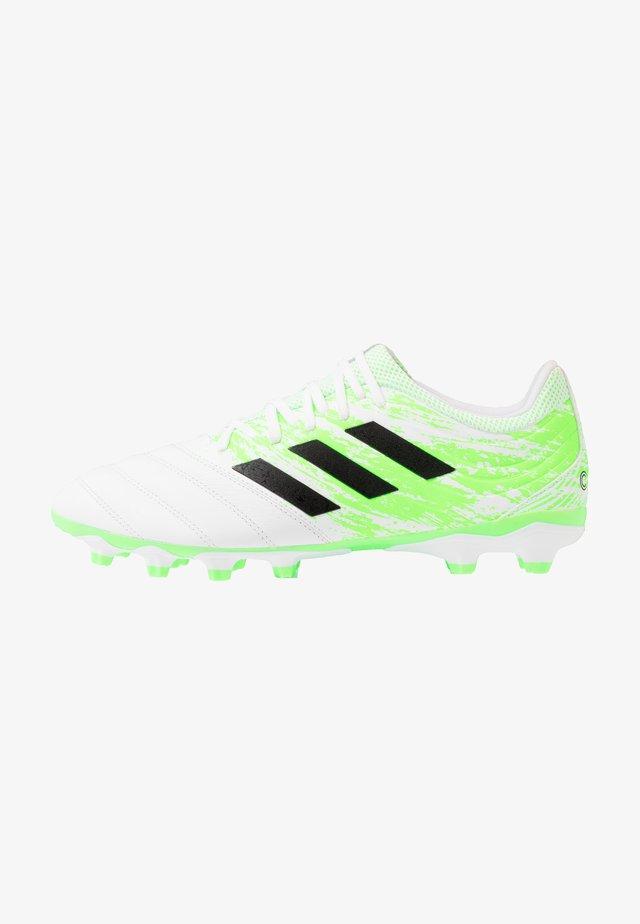 COPA 20.3 MG - Voetbalschoenen met kunststof noppen - footwear white/core black/signal green