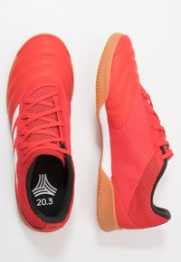 adidas Performance - COPA 20.3 IN SALA - Halówki - action red/footwear white/core black - 1