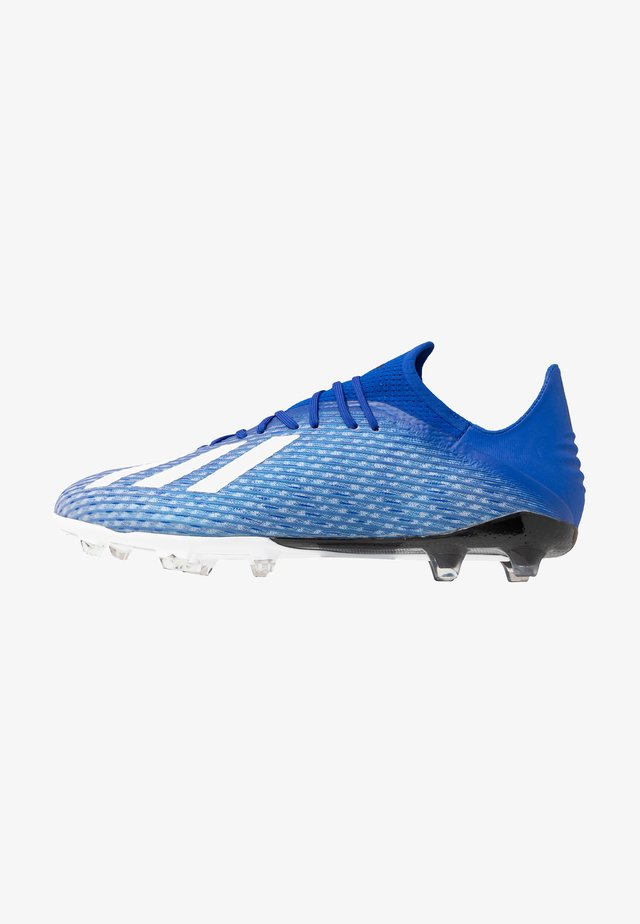 X 19.2 FG - Moulded stud football boots - royal blue/footwear white/core black