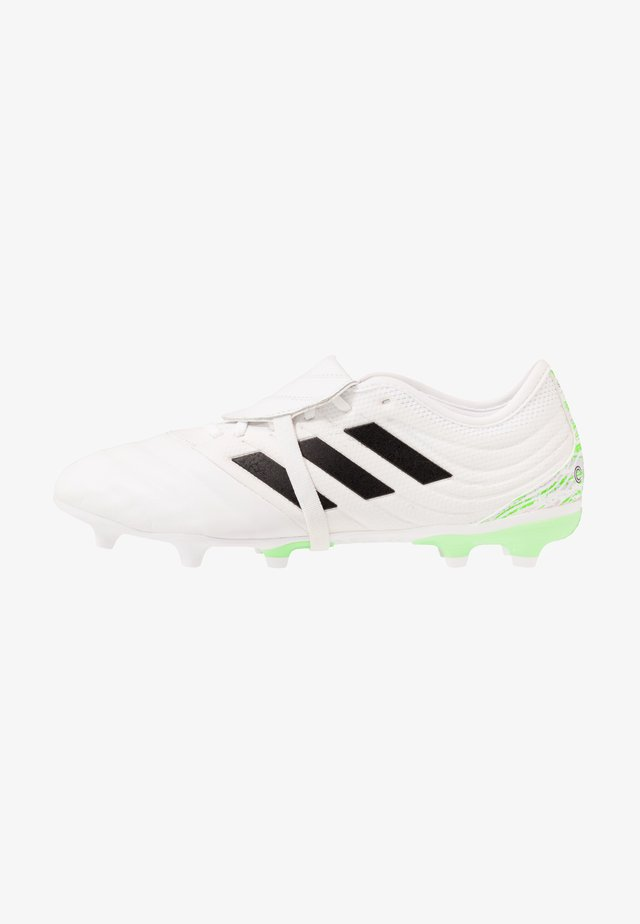 COPA GLORO 20.2 FG - Voetbalschoenen met kunststof noppen - footwear white/core black/signal green