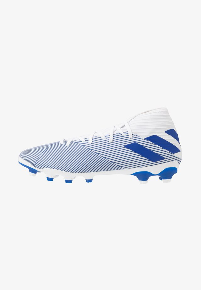 NEMEZIZ 19.3 MG - Botas de fútbol con tacos - footwear white/royal blue