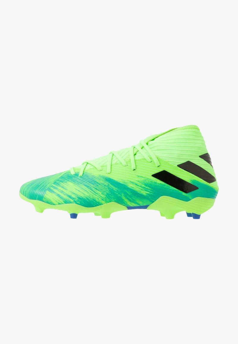 adidas Performance - NEMEZIZ 19.3 FG - Chaussures de foot à crampons - signal green/core black/royal blue