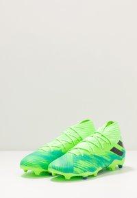 adidas Performance - NEMEZIZ 19.3 FG - Chaussures de foot à crampons - signal green/core black/royal blue - 2