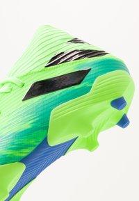 adidas Performance - NEMEZIZ 19.3 FG - Chaussures de foot à crampons - signal green/core black/royal blue - 5
