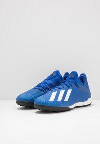 adidas Performance - X 19.3 TF - Korki Turfy - royal blue/footwear white/core black - 2
