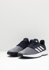 adidas Performance - GAMECOURT BARRICADE CLOUDFOAM TENNIS SHOES - Kengät kaikille alustoille - legend ink/footwear white - 2