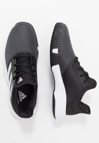 adidas Performance - GAMECOURT - Multicourt tennis shoes - core black/footwear white/grey six - 1