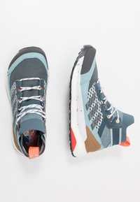 adidas Performance - FREE HIKER BOOST PRIMEKNIT SHOES - Hiking shoes - legend blue/solid grey/ash grey - 1